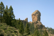 Towns of the interior of gran canaria and roque nublo